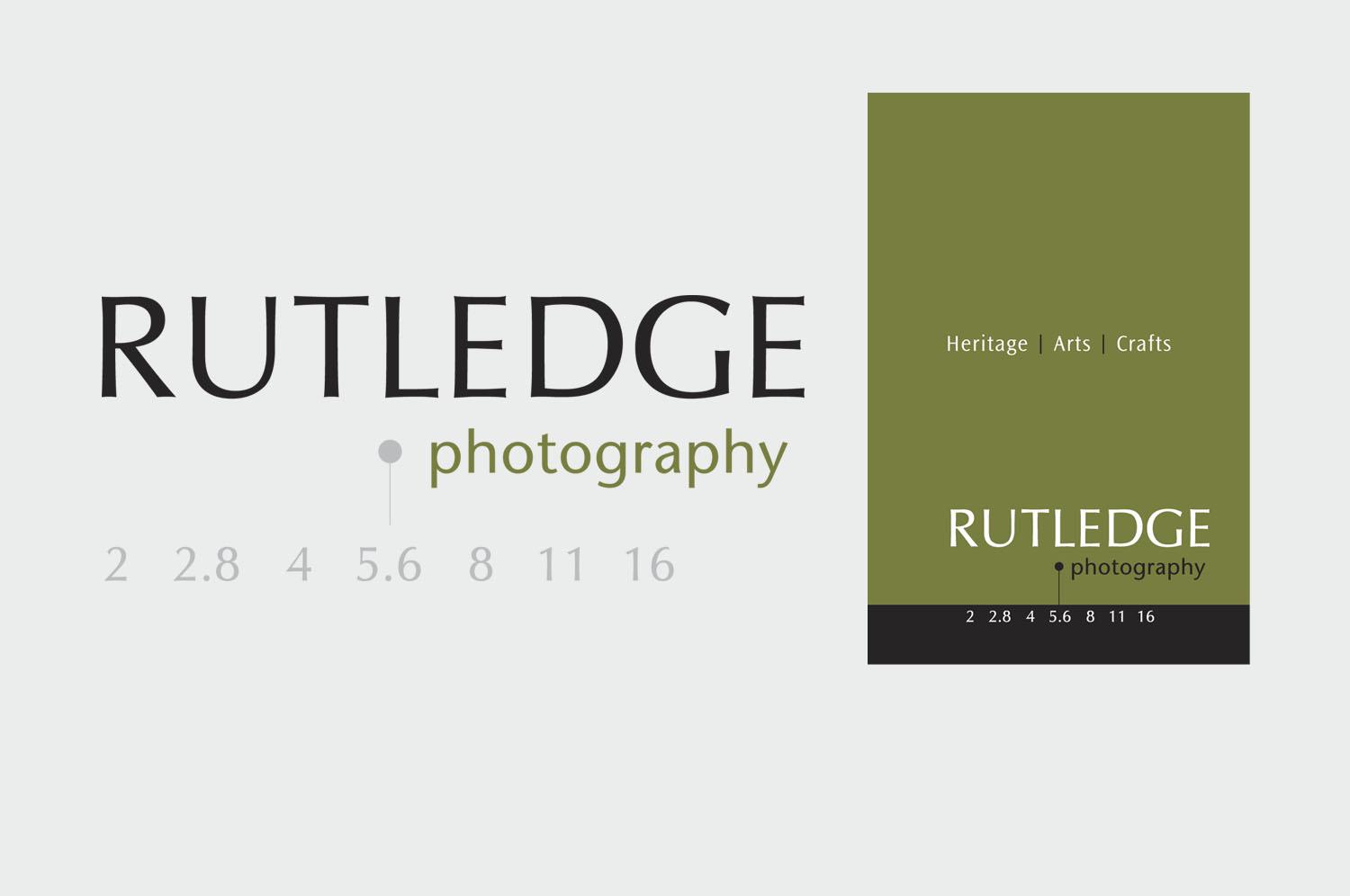 Logo design and business stationary for Ruthledge photography, Co. Down