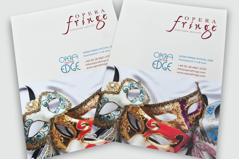 Design of promotional brochure for Opera Fringe, Belfast