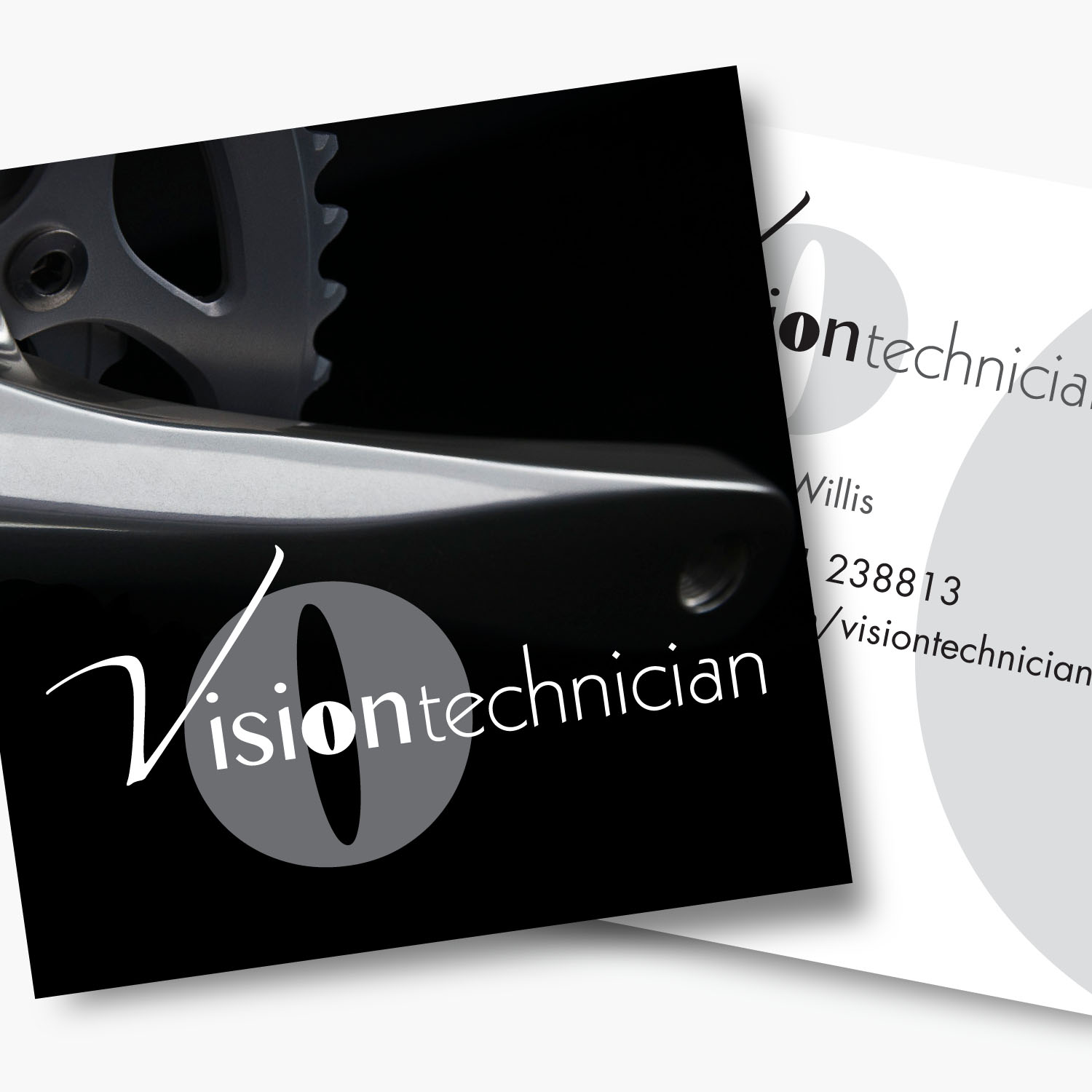 Brand identity and business stationery for Vision Technician
