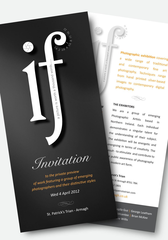 Invitation for a photographic exhibition.
