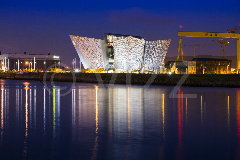 Titanic Centre at night