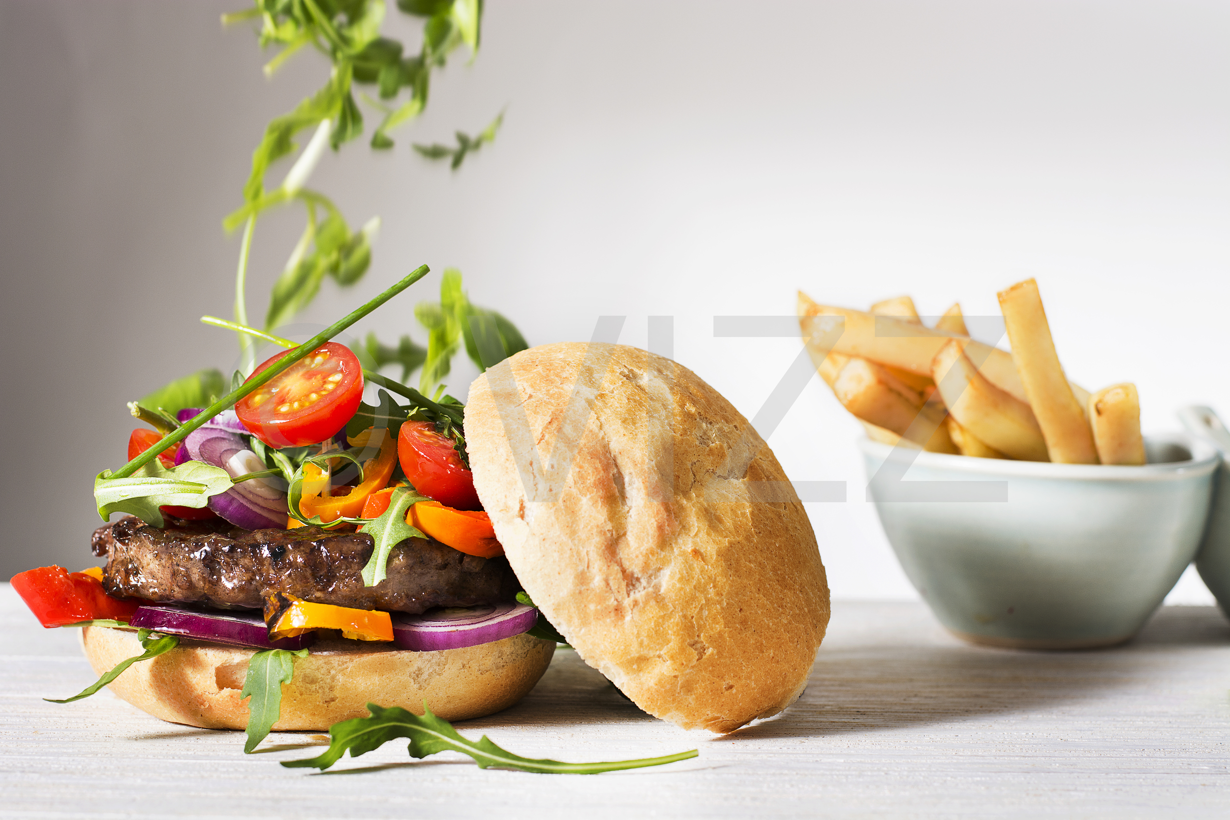 Food photography - Burger & chips
