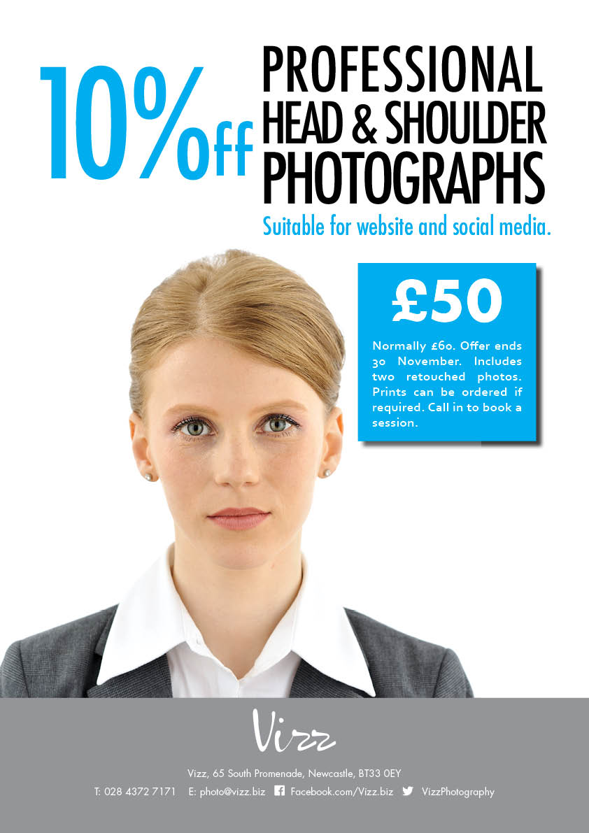 10%off professional head & shoulder portraits
