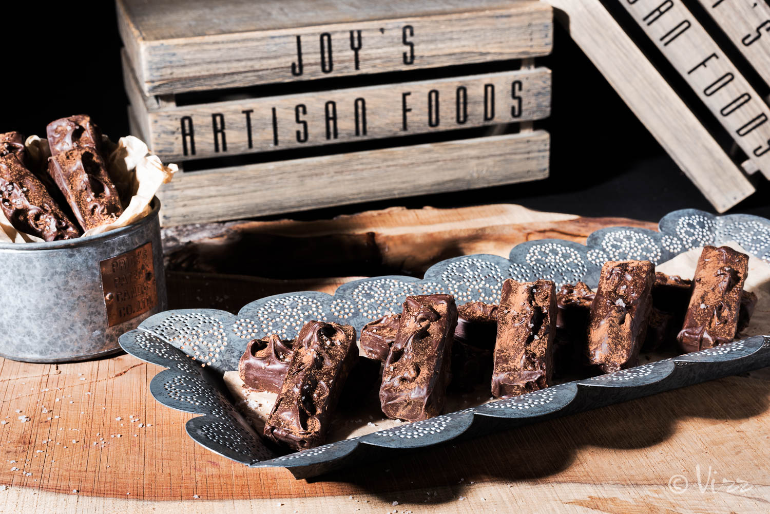 Chocolate photography for Joy's Artisan Foods