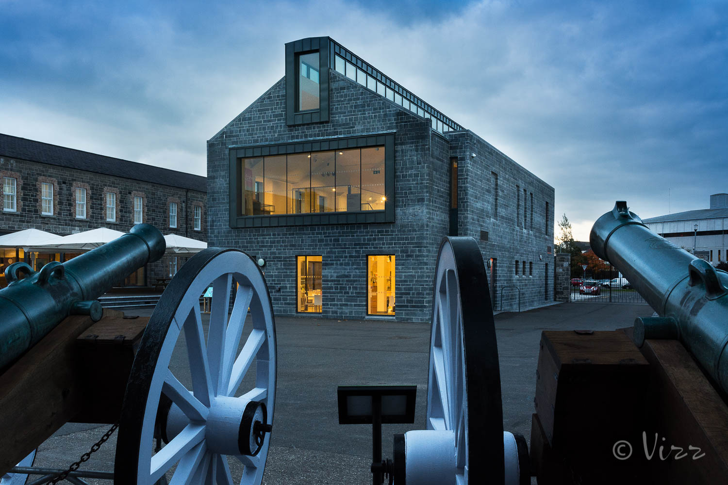 Enniskillen Castle Museums - Exterior night shot