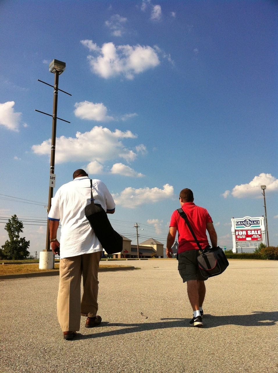 Greg and Nick head out for the big shoot.