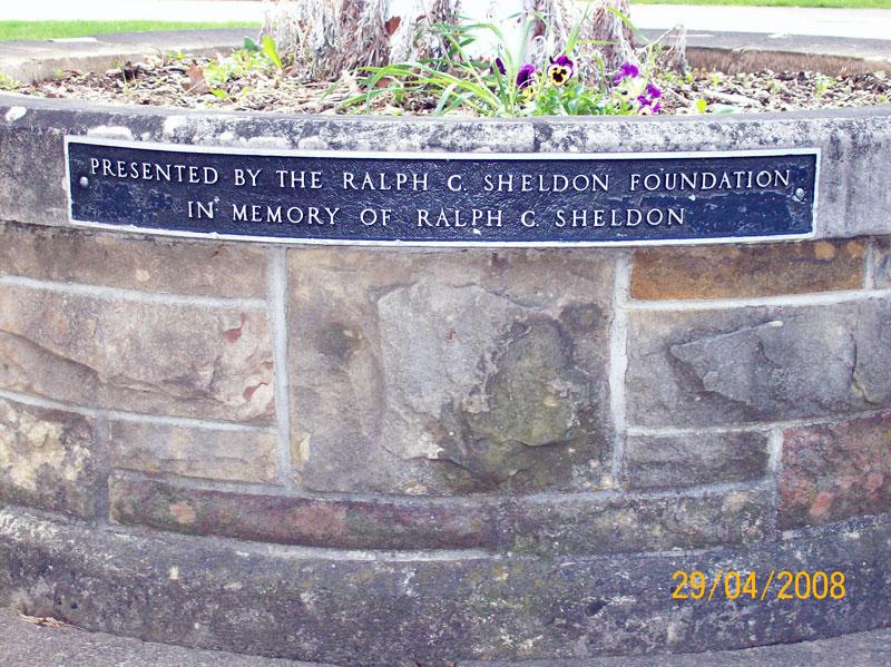 Flagpole dedicated to Ralph C. Sheldon