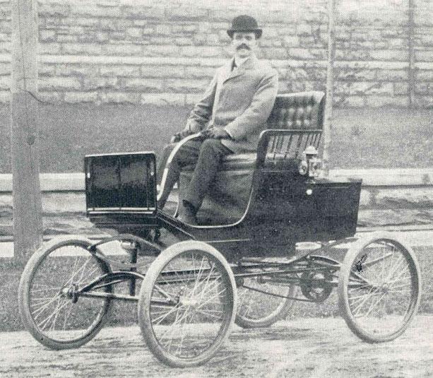 Ralph C. Sheldon's locomobile, early 1900s