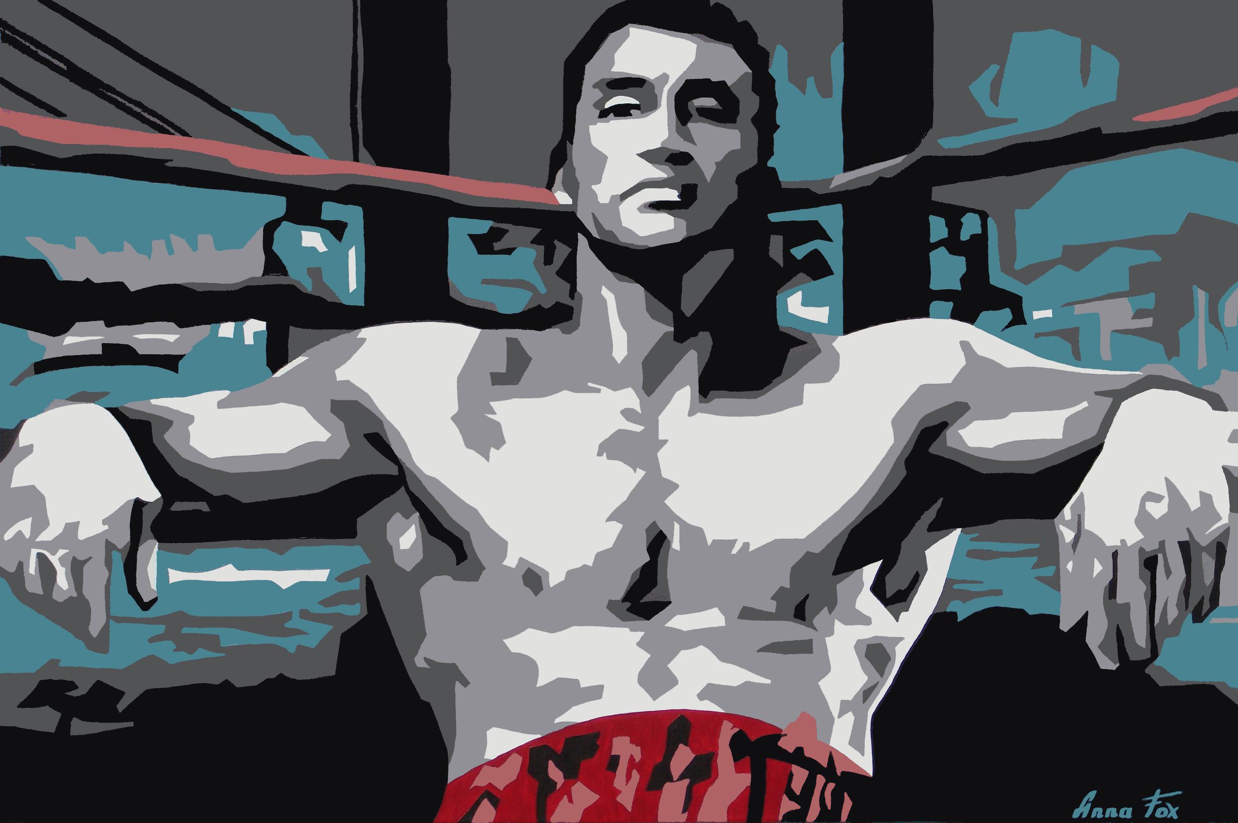 My painting ofVladimir Klitchko, Oil on Canvas 120x80 cm, 2010/03/16