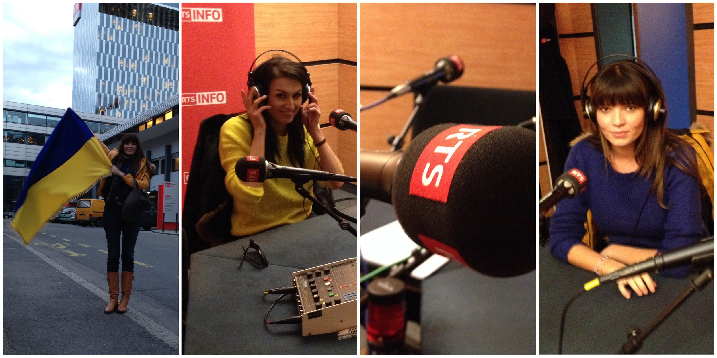 Irina Parokinna & Anna Fox , live interview on Swiss National Radio RTS, Geneva - Spokesperson IrinaParokinna