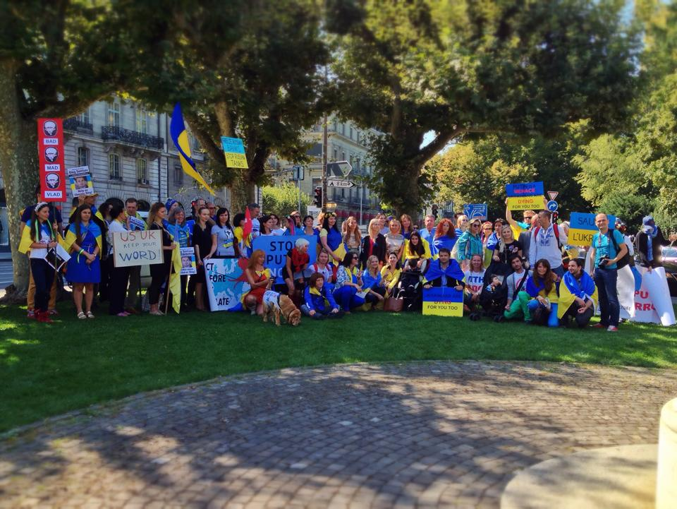 """Help Ukraine"" Manifestation. September 4, 2014. Geneva, Switzerland."