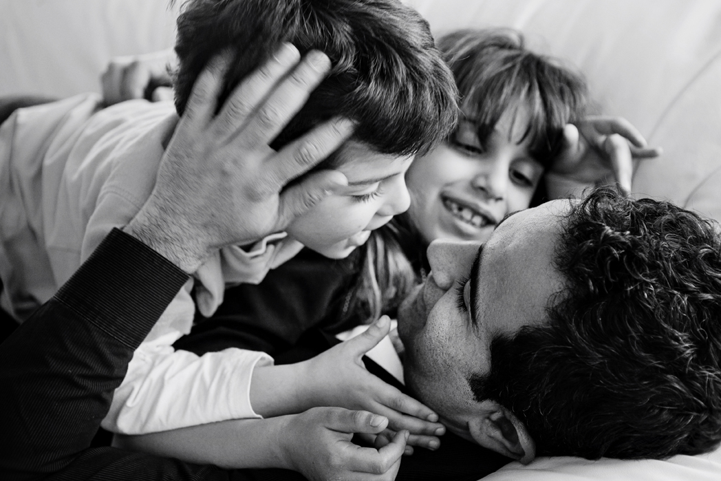 father and children family photo session Lansdowne VA