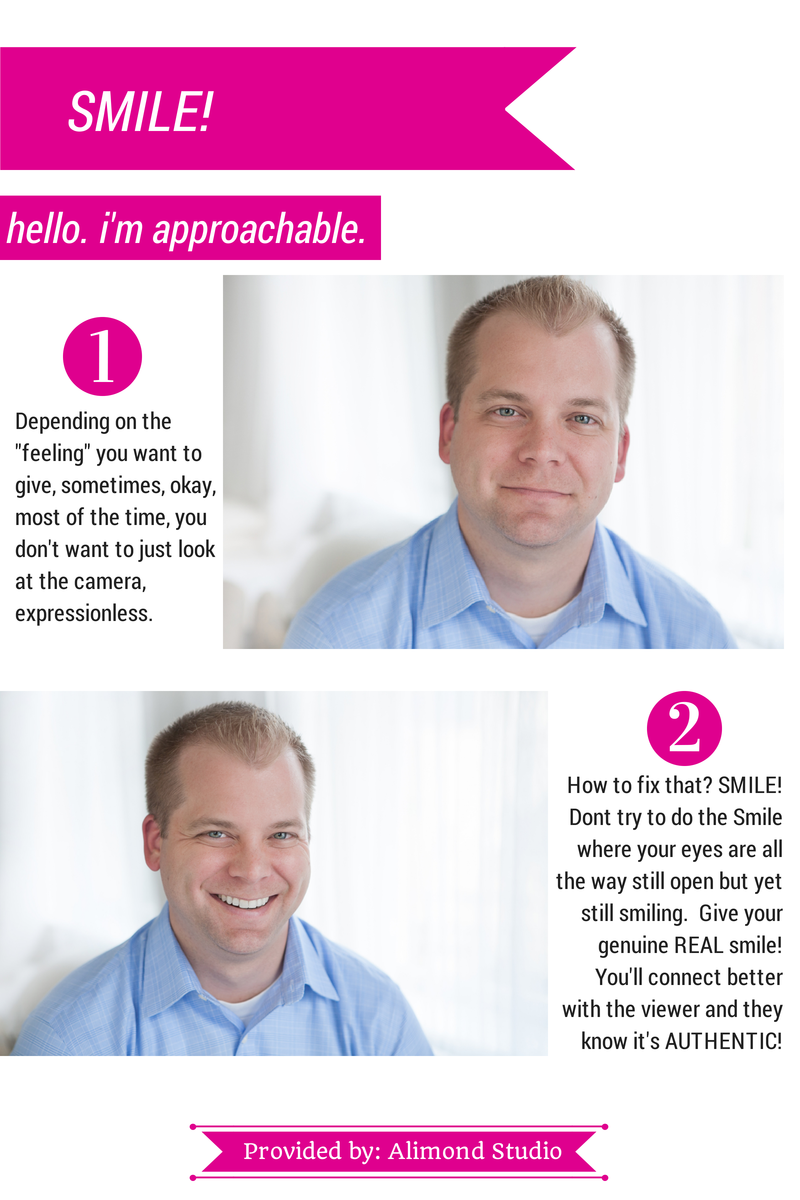 Smile in your headshot