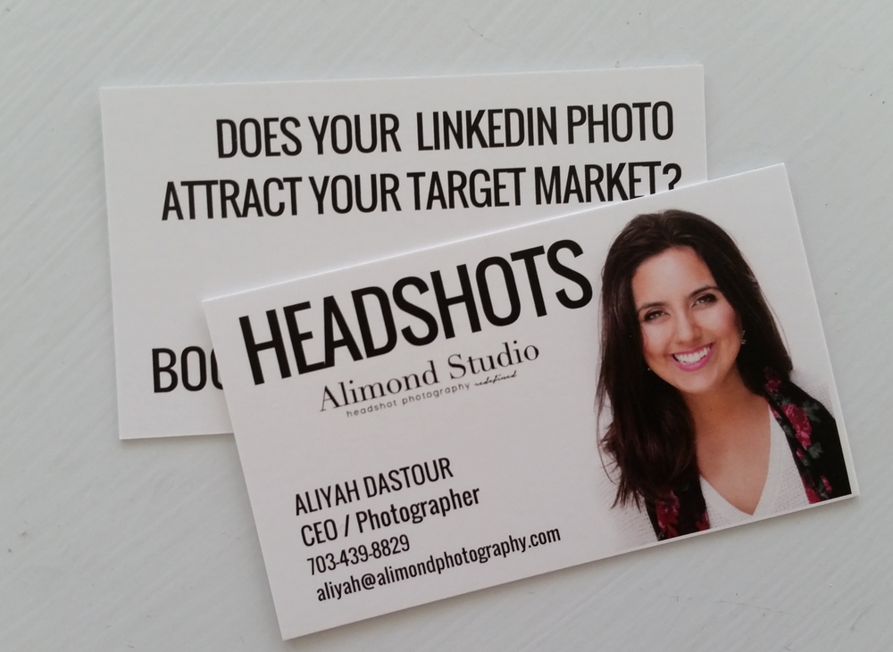 Business Cards Headshot Or No Alimond Studio