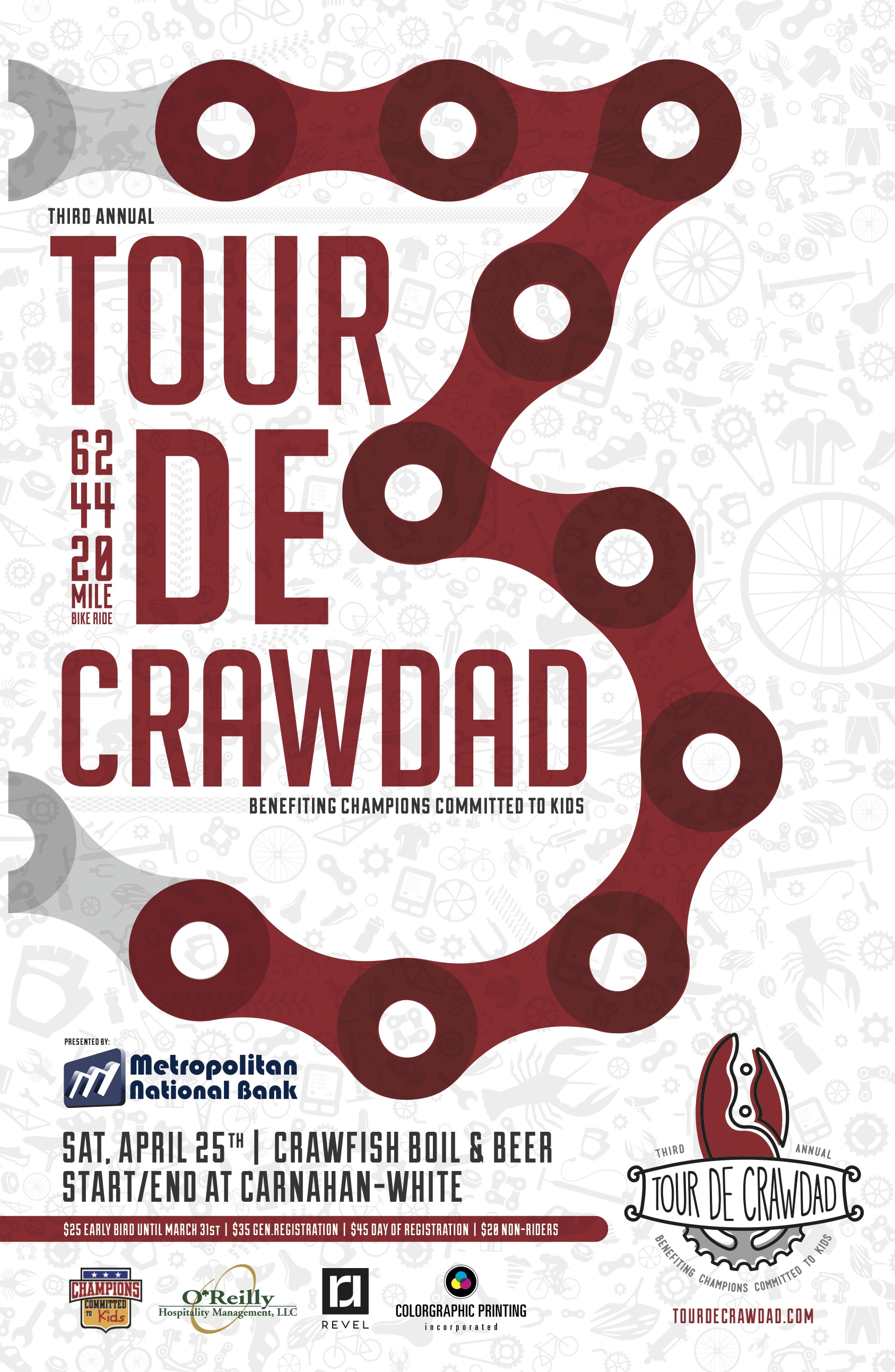 GOLD AWARD: Tour de Crawdad Poster