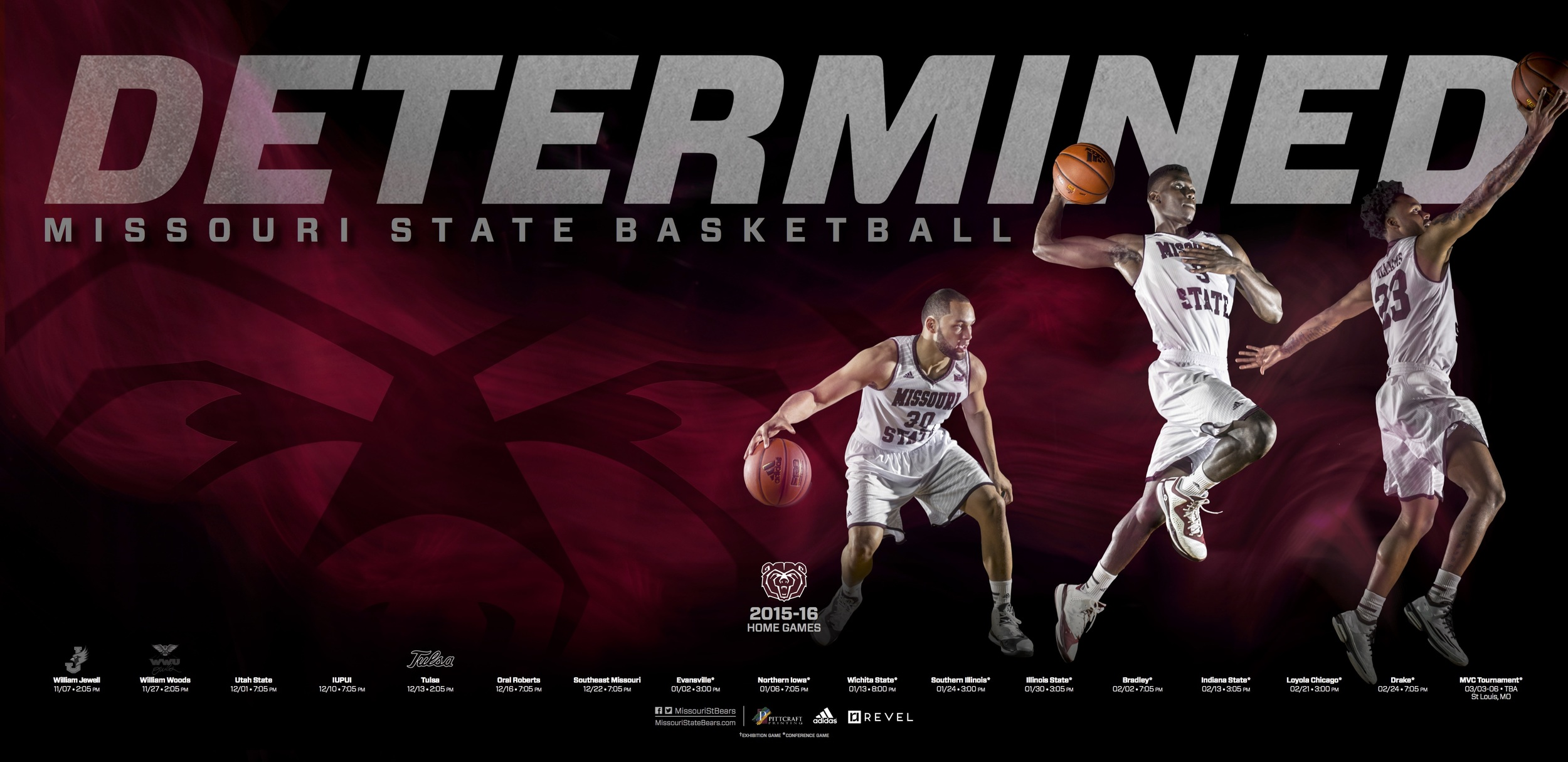 SILVER AWARD: MSU Athletics Poster Collection–Basketball