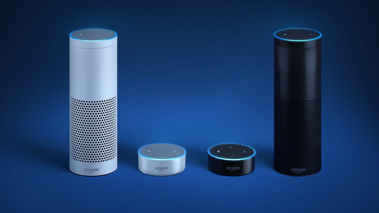The Amazon Echo and Echo Dot.
