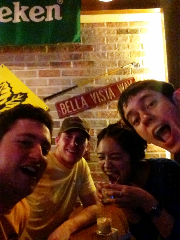 Drunk faces celebrating our last night in Busan