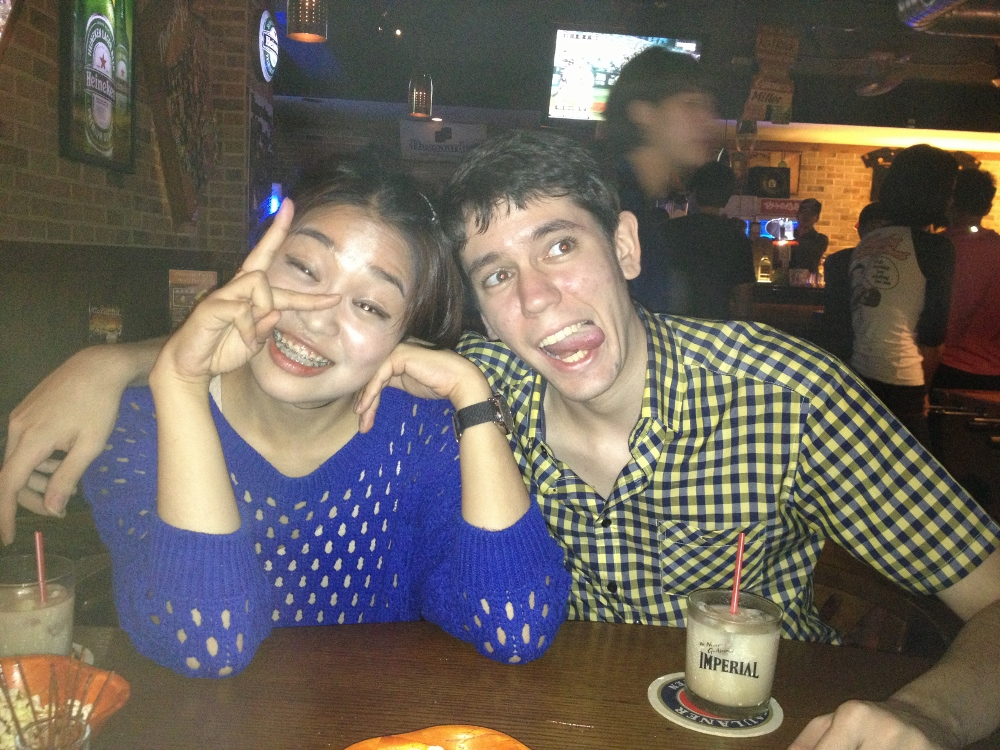 April and Chase's drunk faces