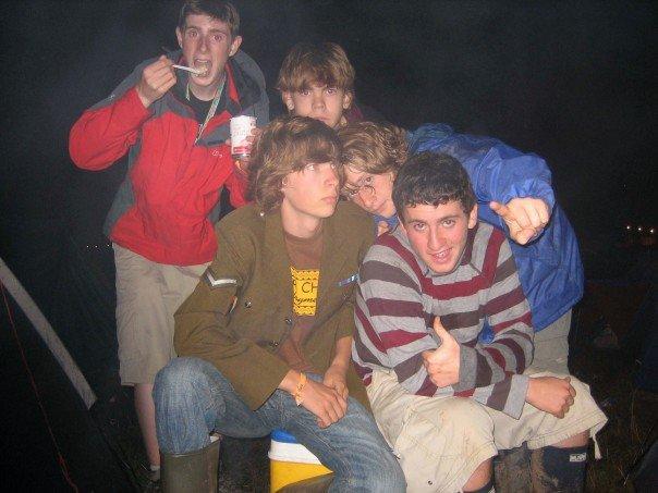 After being blown away by Radiohead's headline set at V Festival Staffordshire, August 2006. L-R: John, David, Joe, Ryan, Me