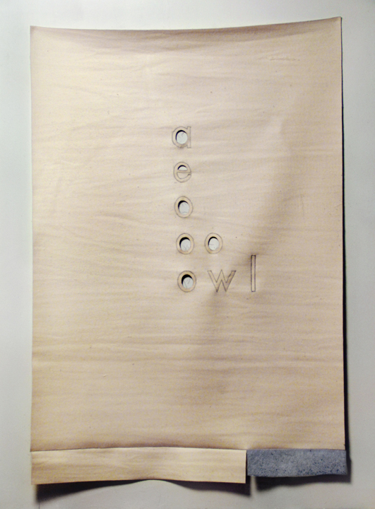 "Say goodbye to Helen , 2009. Industrial wool felt hand stitched with silk thread. 69.5"" x 47"""