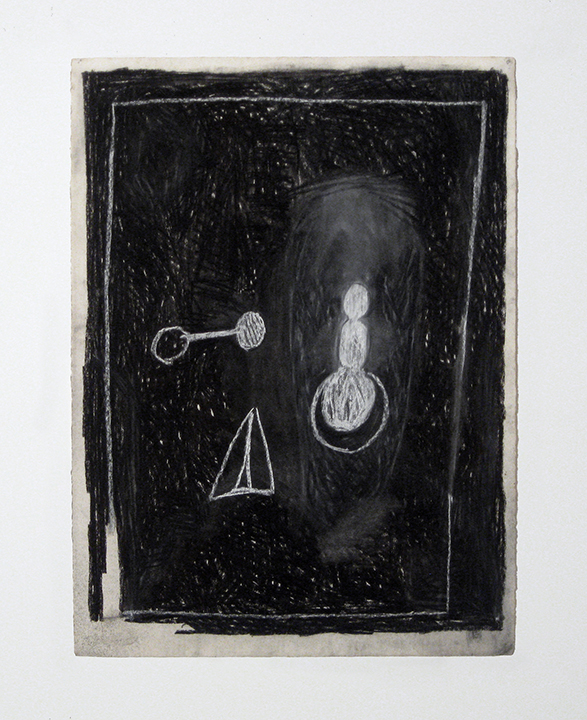 """Triad   , 1982. Charcoal and pastel on rag paper. 30"""" x 22"""""""