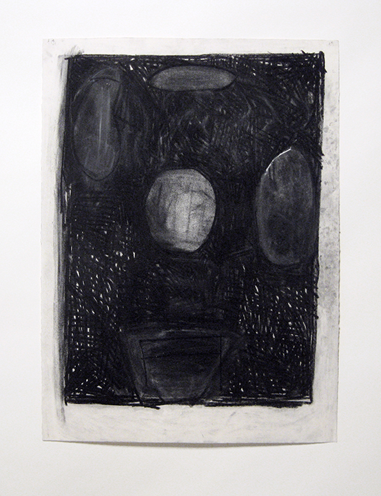 """Drawing (planets),    1982. Charcoal and pastel on rag paper. 30"""" x 22"""