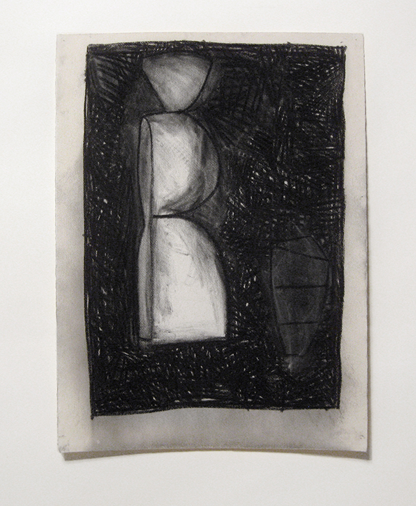 """Figure   , 1983. Charcoal and pastel on rag paper. 30"""" x 22"""
