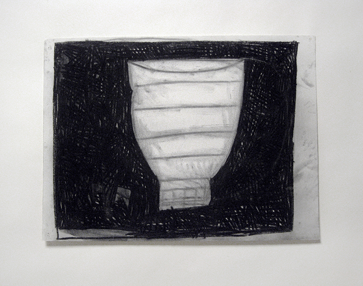 """Vessel   , 1983. Charcoal and pastel on rag paper. 22"""" x 30"""""""