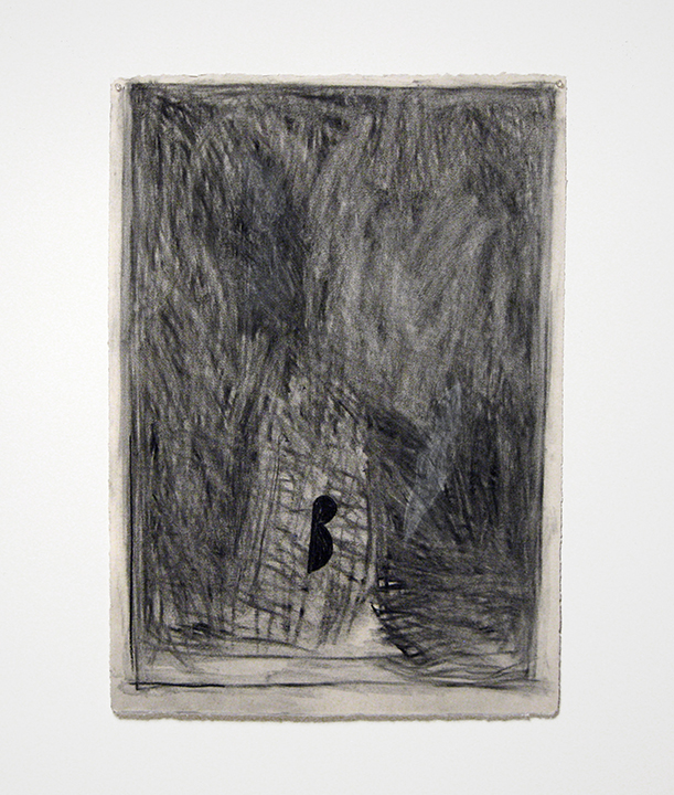 """Traveler   , 1985. Charcoal and pastel on rag paper. 41"""" x 30"""""""
