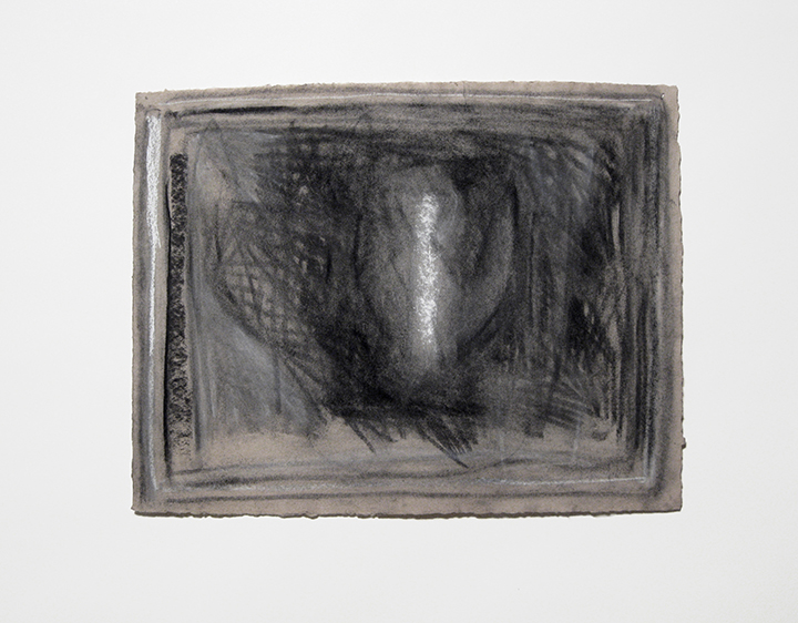 """Glow Worm   , 1986. Charcoal and pastel on handmade paper. 20"""" x 26"""