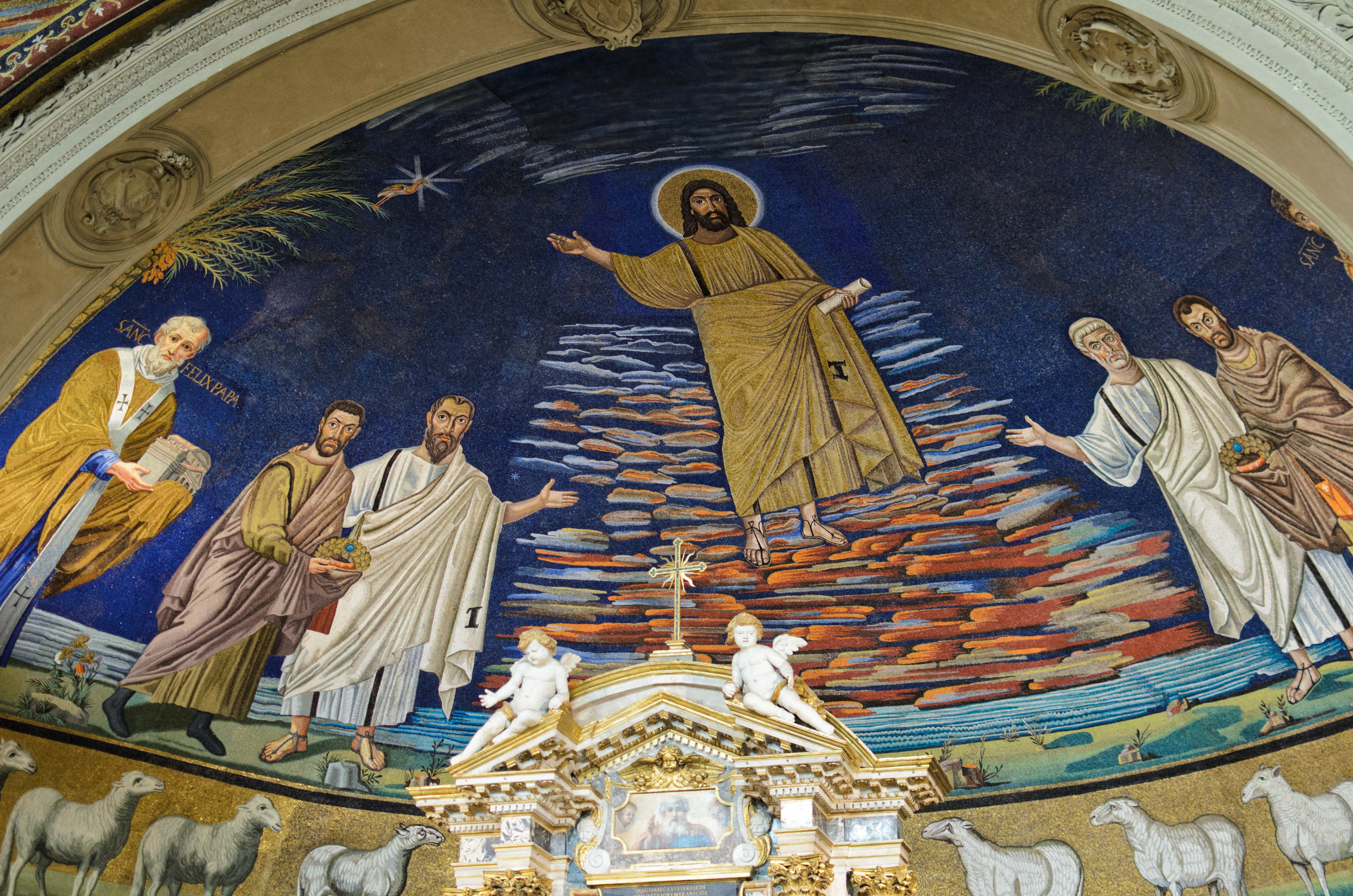 The apse mosaic at the church of Saints Cosmas and Damian