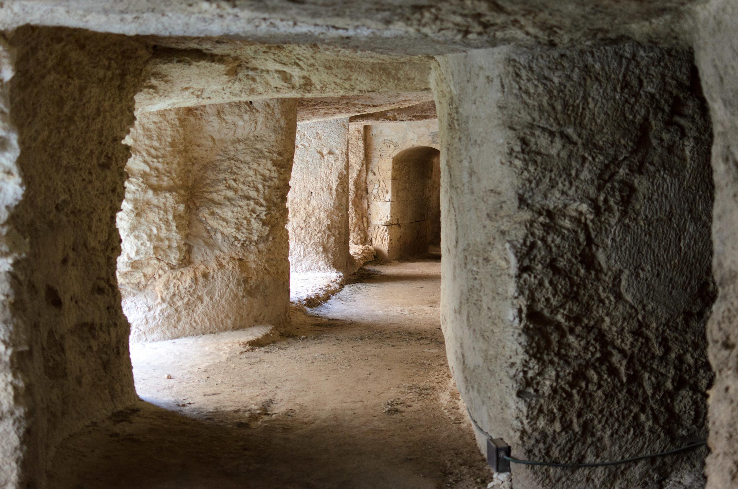 Tunnels underneath the Castle of Euryalus