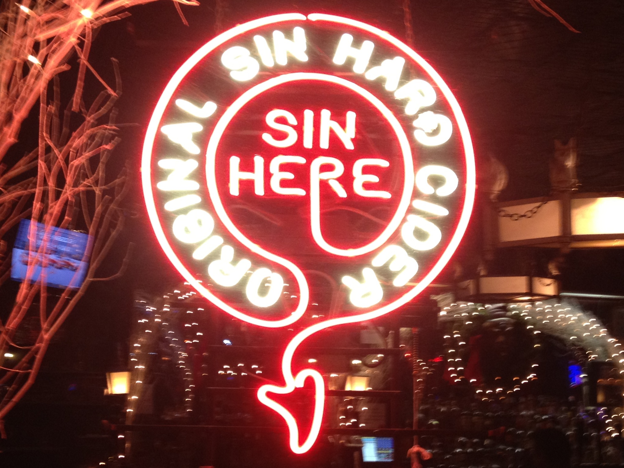 Our one and only OS neon proudly displayed @ The White Horse Tavern (567 Hudson Street, West Village, NYC)