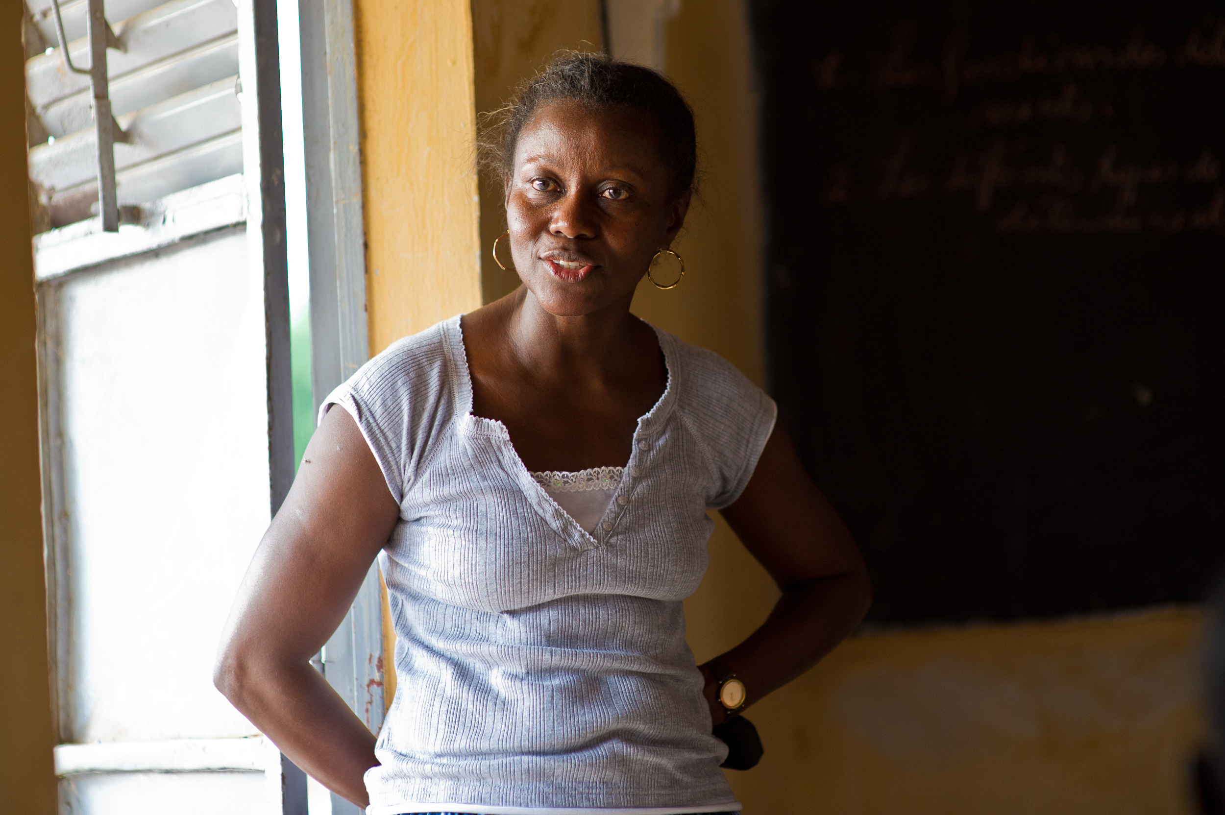 Khadidiatou Wade visits the school she built in her mother's honor.