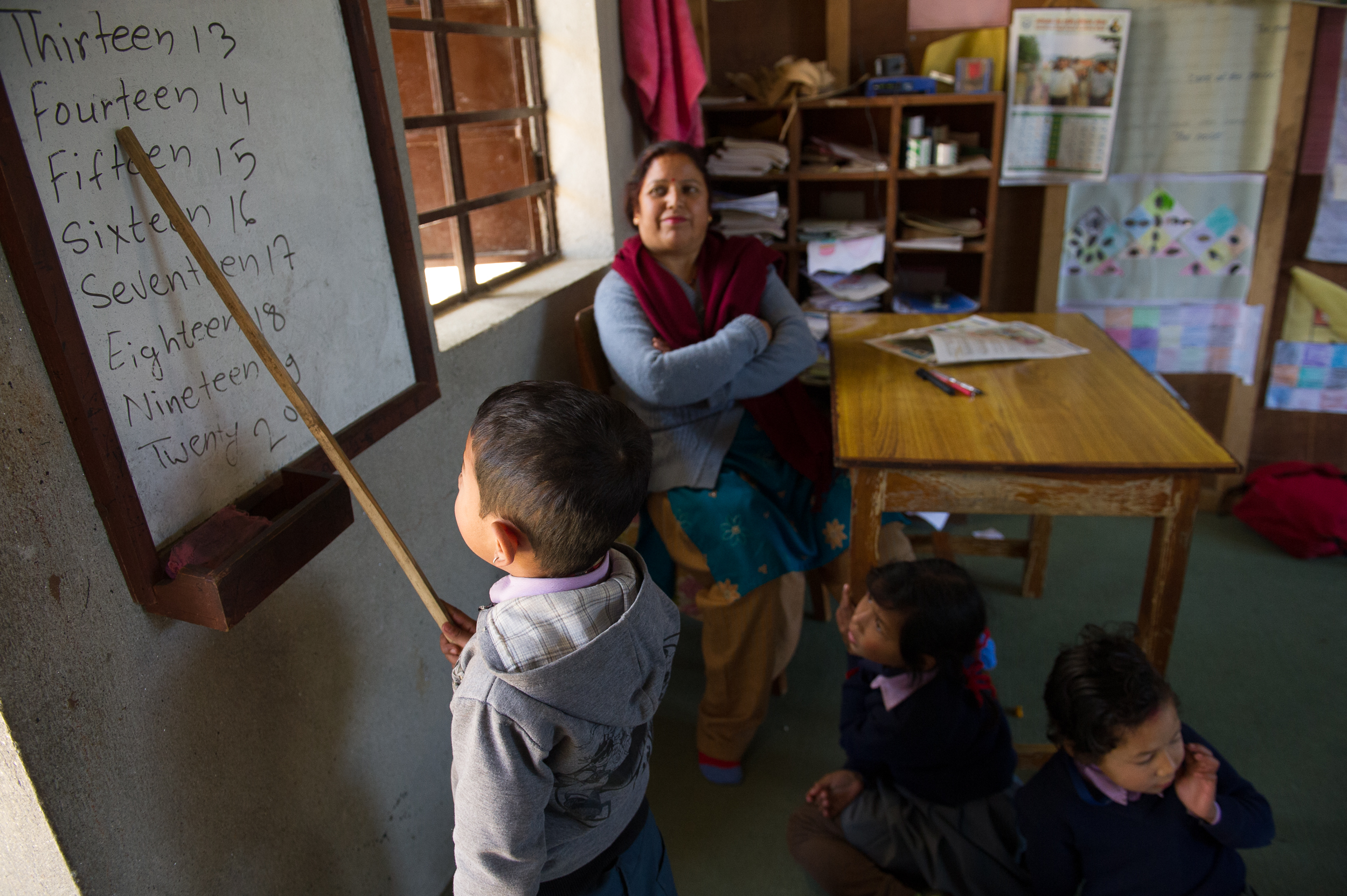 Rather than rote memorization, which is the norm for Nepali schools, the teachers at Shringery take a more inclusive approach.