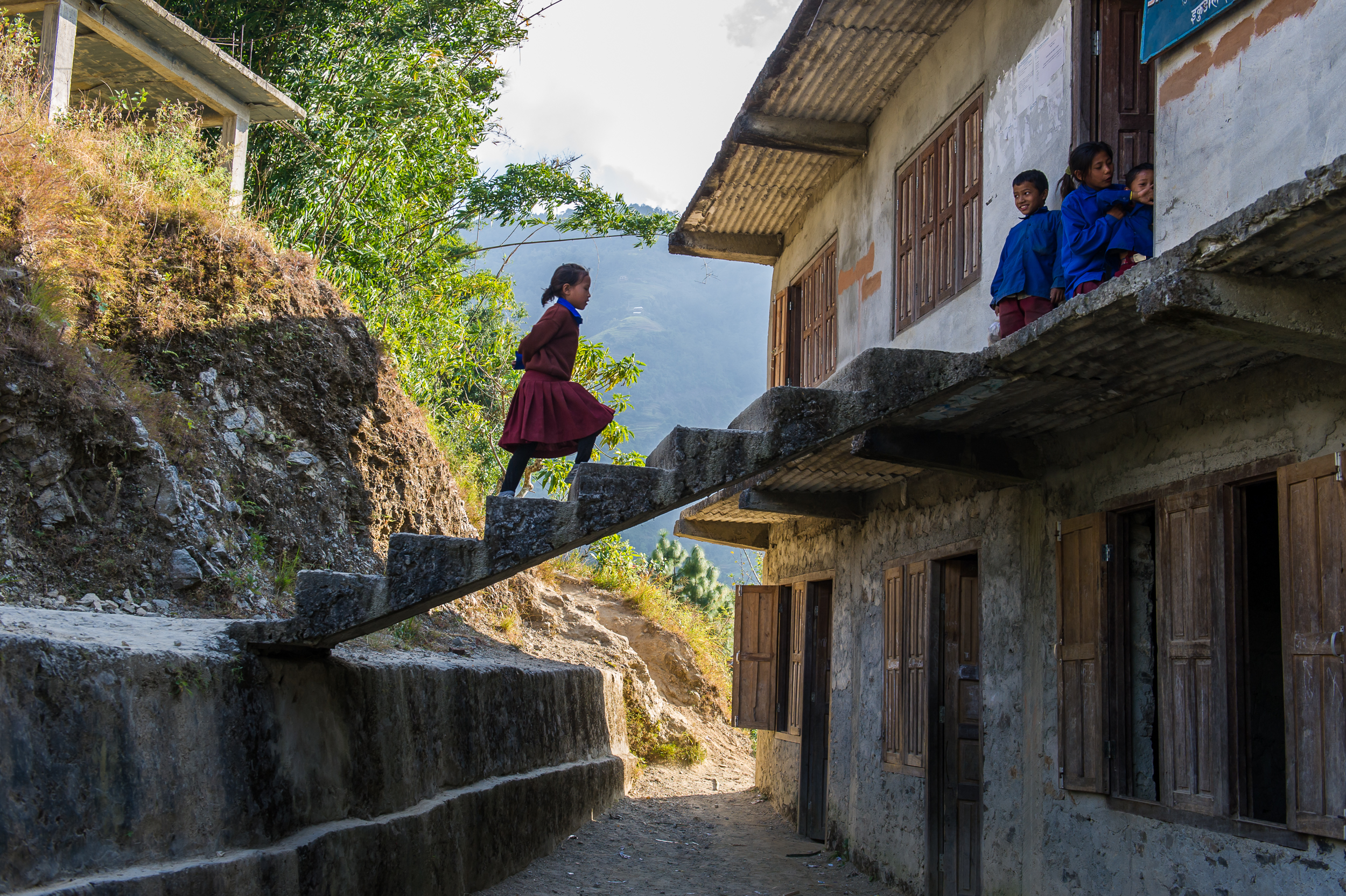 Infrastructure at many Nepali schools is lacking.