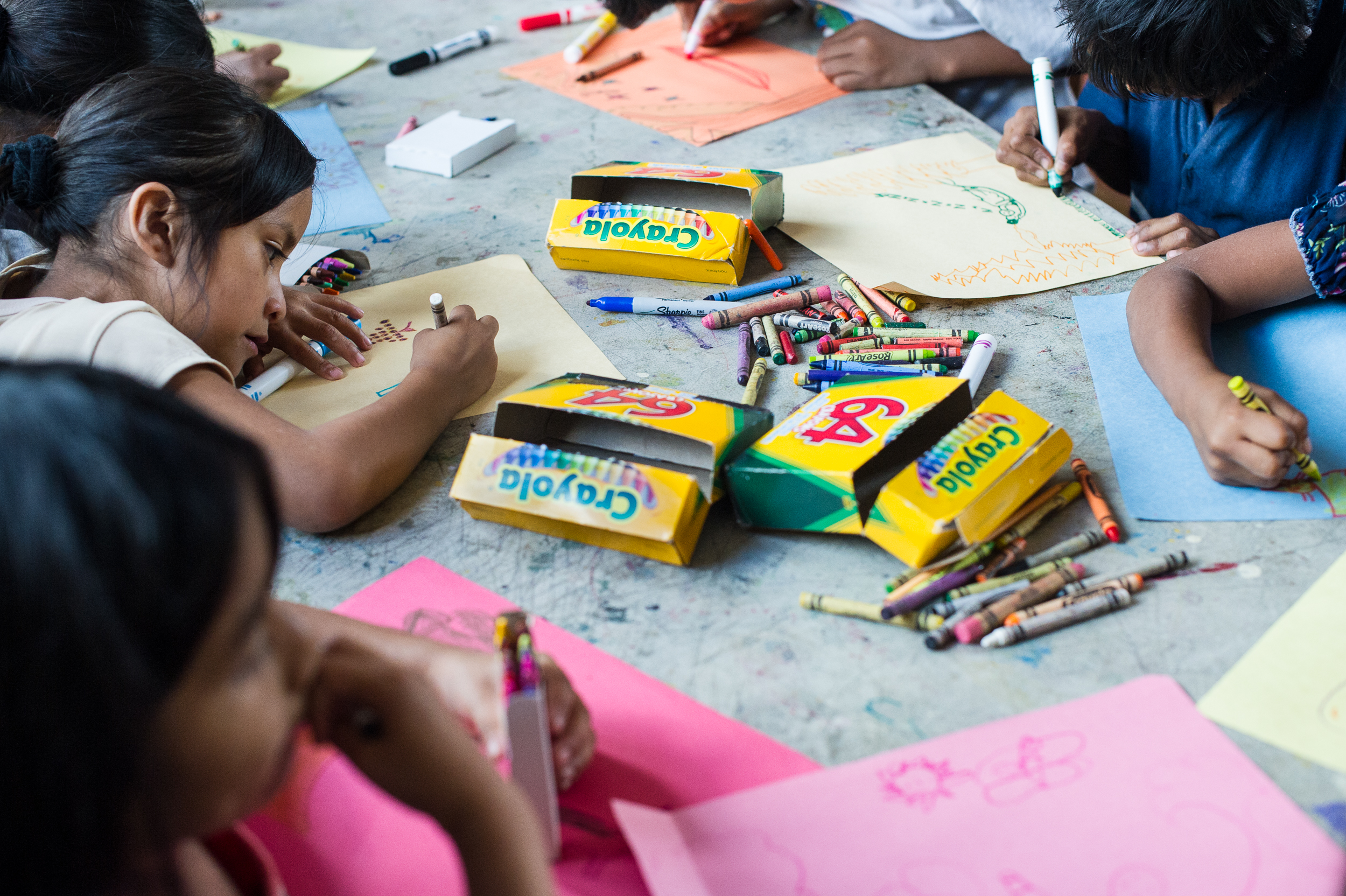 Many of the lessons are taught through art projects and songs, giving children a way to relax and providing a better way to retain information.