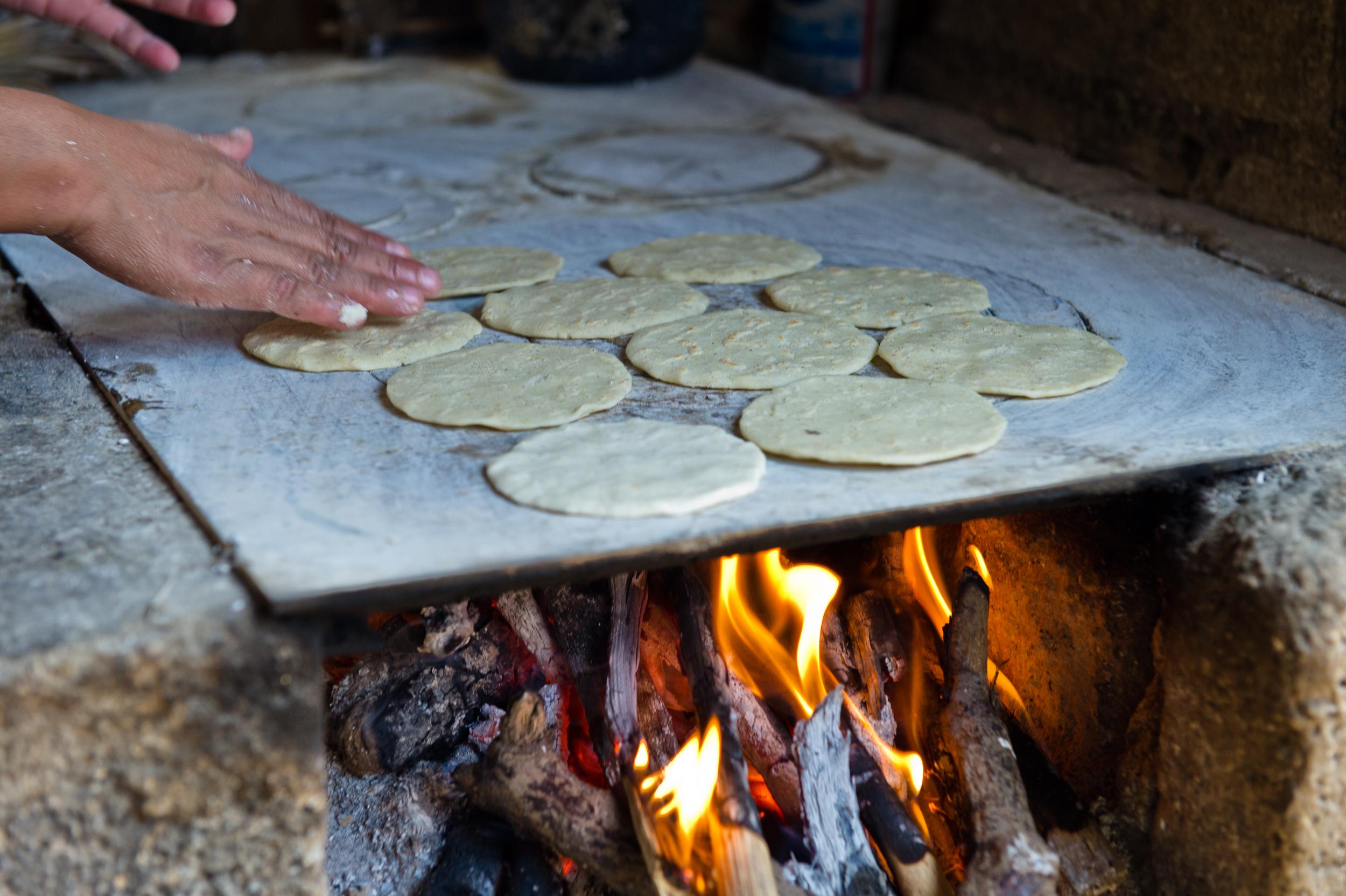 Fresh tortillas are still a diet staple in the pueblo.
