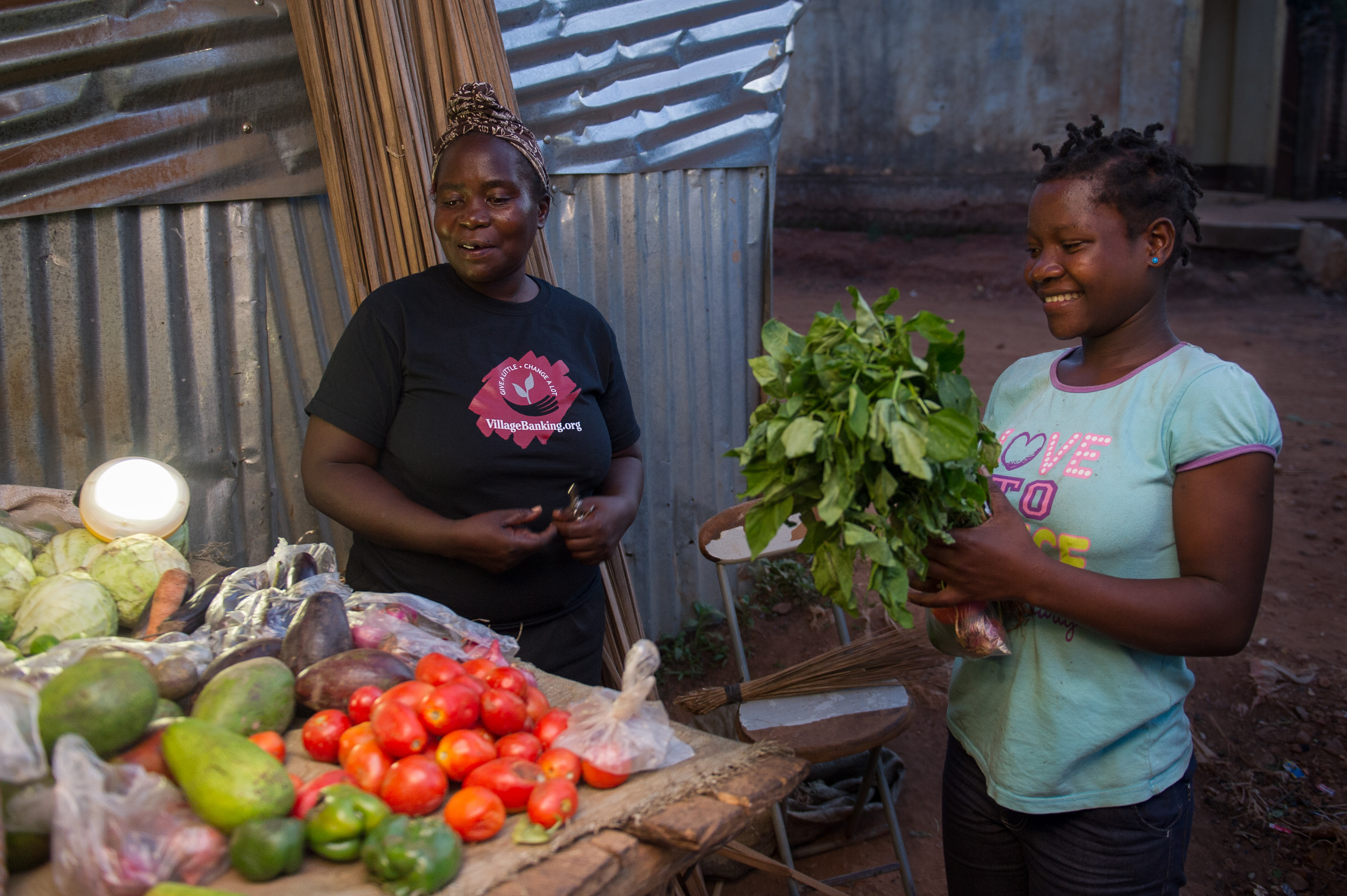 Now that she has the solar lanterns, Josephine is able to stay open later and serve more customers.