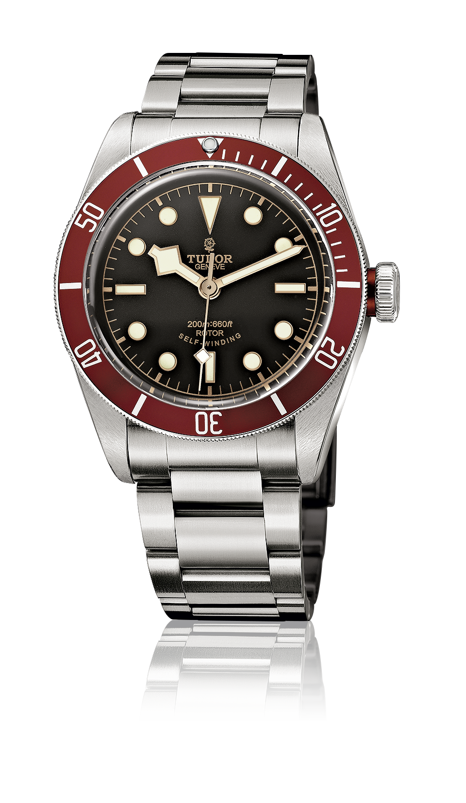 Heritage Black Bay, Steel Bracelet (Red)