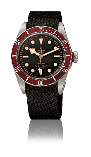 Heritage Black Bay, Fabric Strap (Red)