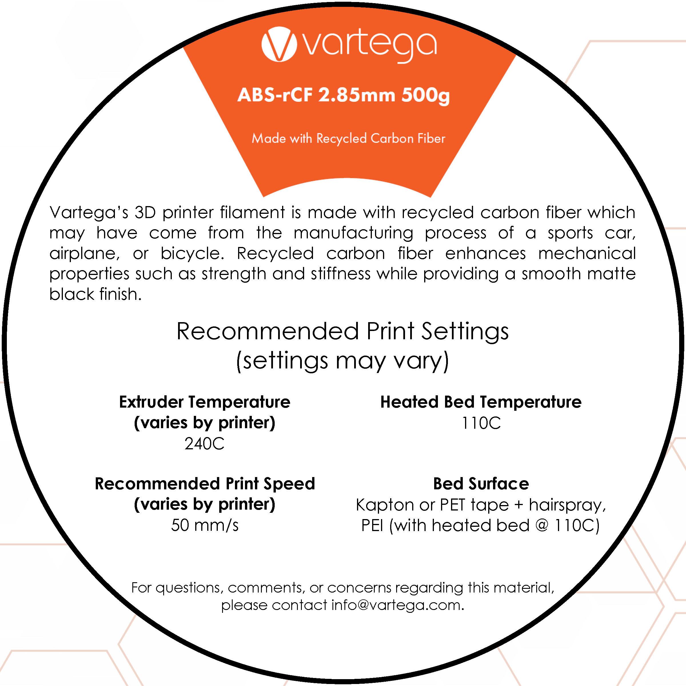 Vartega ABS Instruction Card