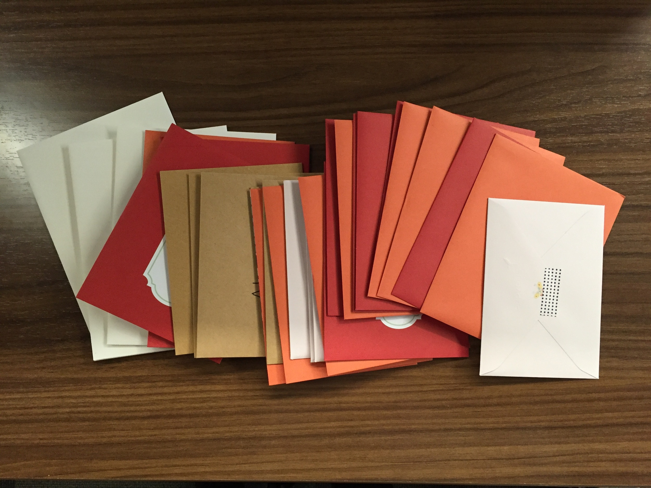 A giant pile of thank you cards