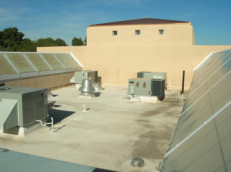 A small spray polyurethane foam roof.