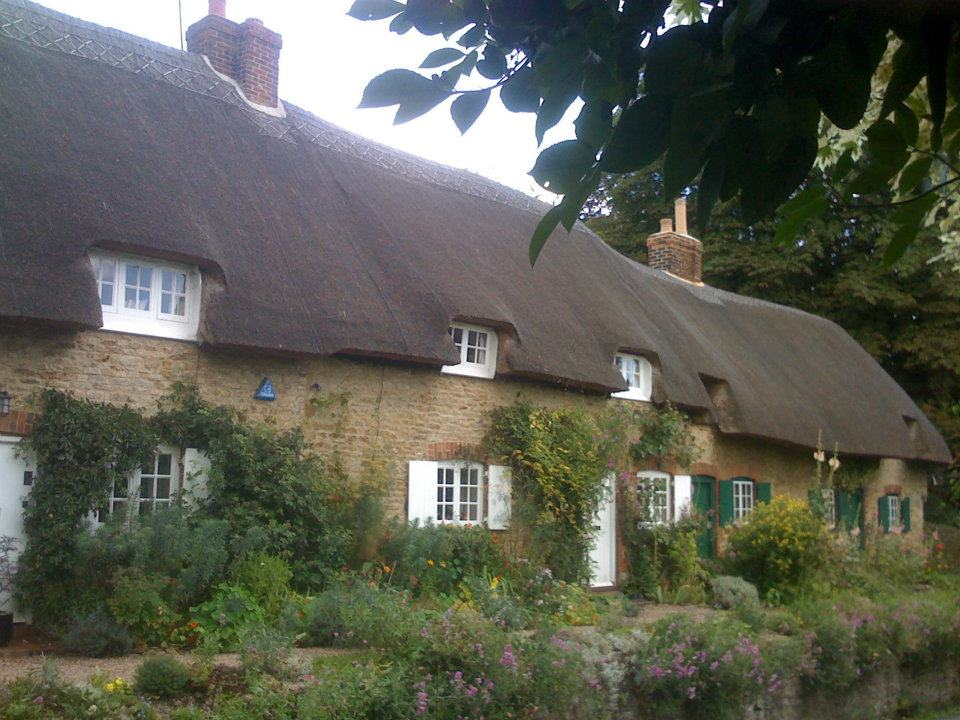 A thatch roof in Oxfordshire, England.