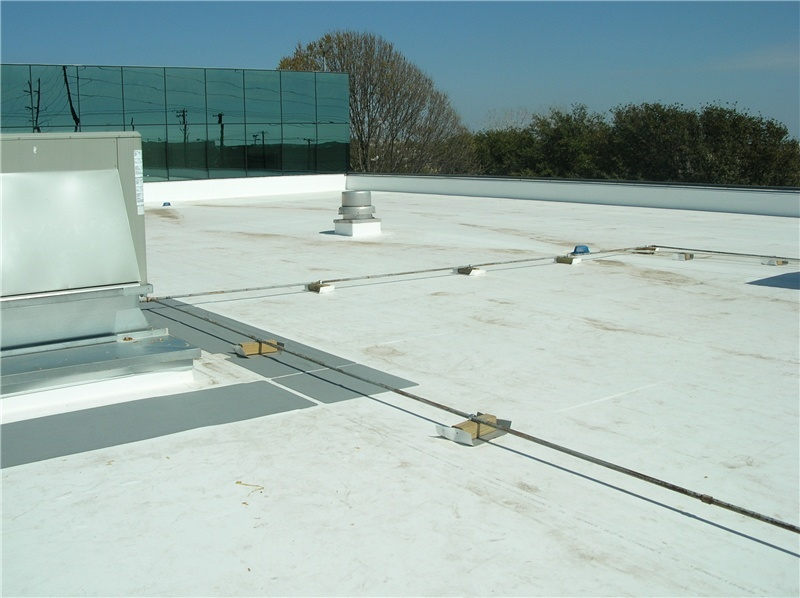 A fully-adhered TPO roof.