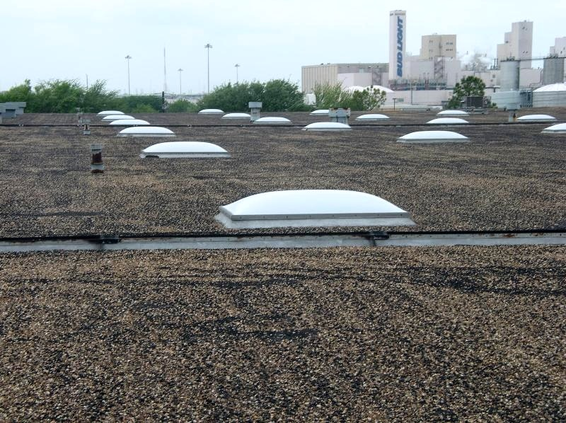 A 25-year-old coal tar pitch built-up roof.