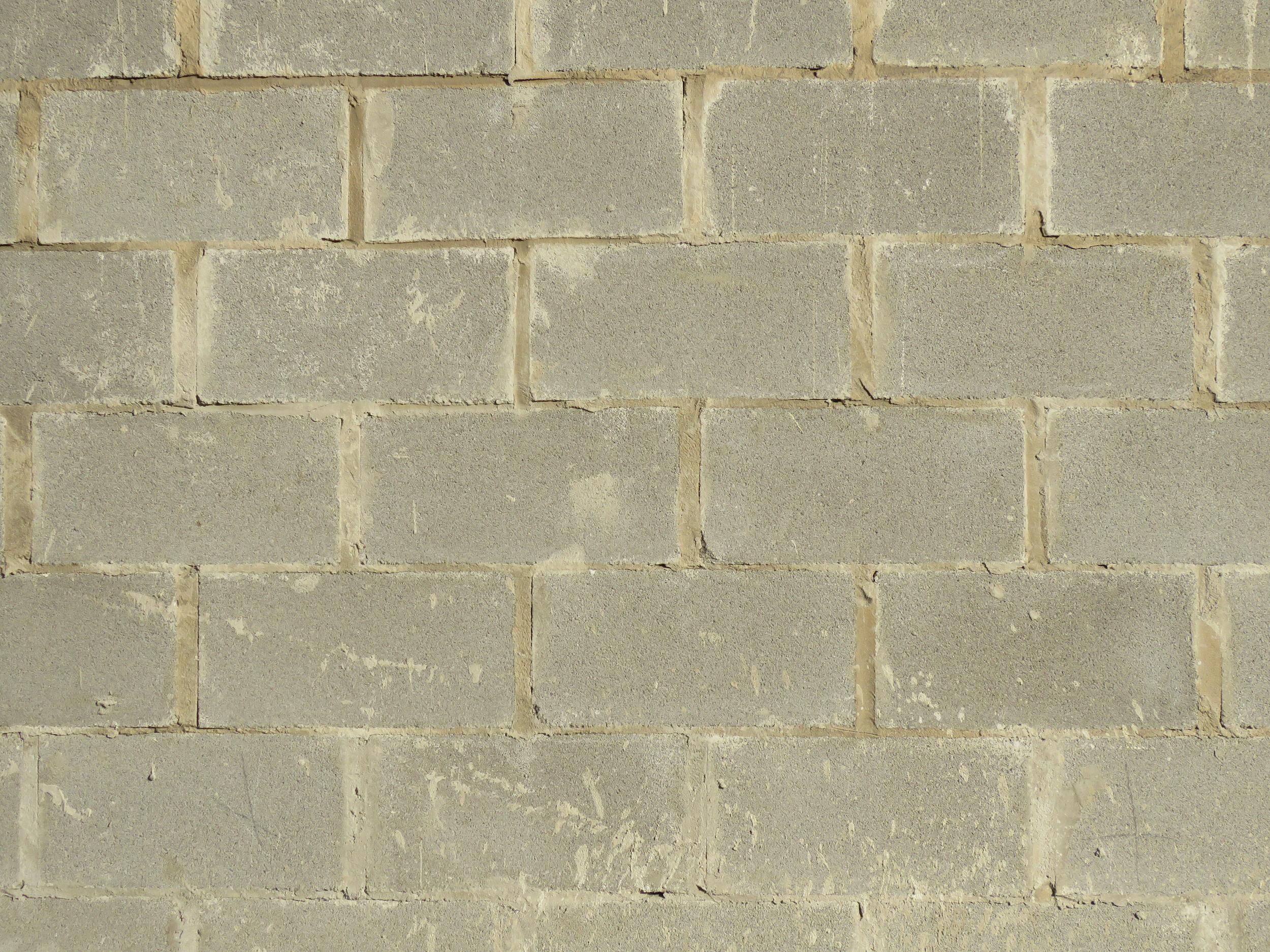 Concrete masonry units.