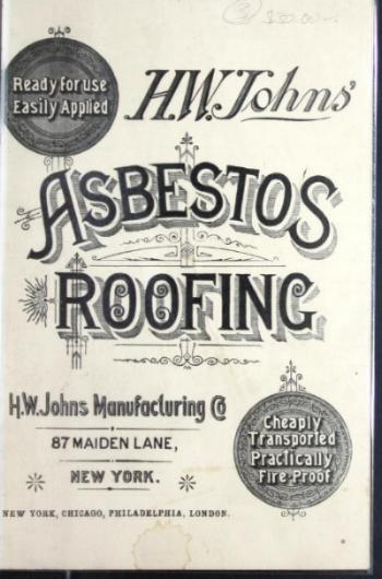 Asbestos roofing brochure from 1887.